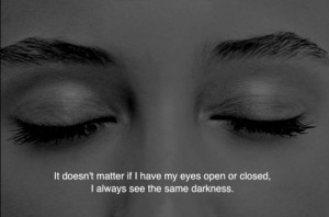 depression sad eyes dark darkness open closed