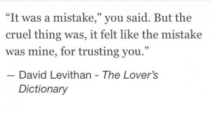 The Lover's Dictionary by David Levithan -Quotes,