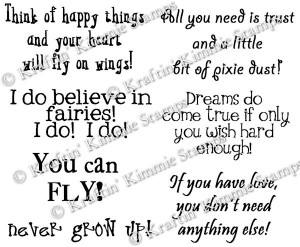Peter Pan Quotes Never Land Neverland sentiments set