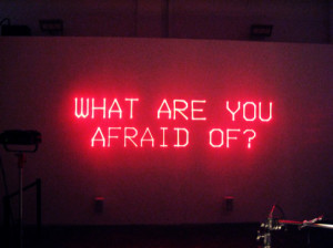 fear, lights, photography, quote, text
