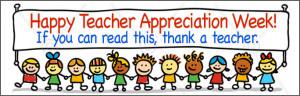 Happy Teacher Appreciation Week Vinyl Banner