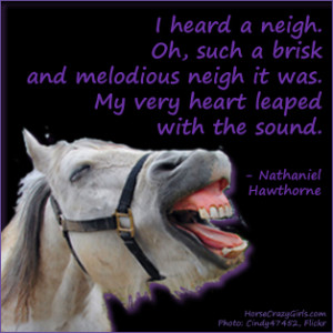 Horse Quote by Nathaniel Hawthorne