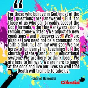 Charles Bukowski #atheist quote #atheism