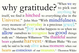JUST TO LET YOU KNOW…. Gratitude is contagious. When you are ...