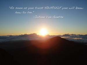 Picture taken at Haleakala Maui-I love the sunrise.