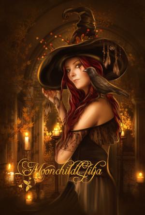 Beautiful Witch Art The witch theme - it portrays