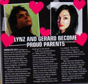 years ago 256 notes # bandit lee way # lyn z way # gerard way