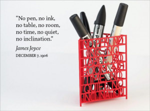 James Joyce Quote Desk Tidy, designed by eoin stephens, 3D printed