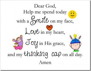 Enjoy our morning prayer:
