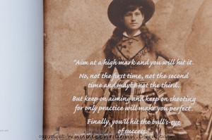 Annie Oakley Quotes Annie oakley biography
