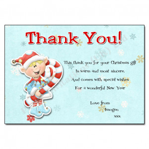 Thank You Notes › Christmas Thank You Notes › Little Elf Christmas ...