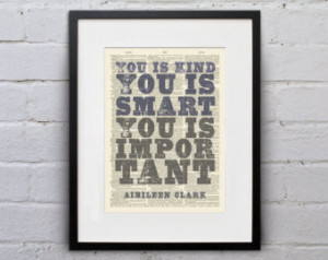 ... Clark - Inspirational Quote Dictionary Page Book Art Print - DPQU122