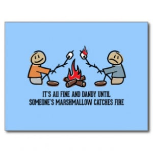 Funny Camping Saying and Cartoon Post Card