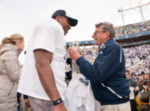 Joe Paterno and Daryll Clark