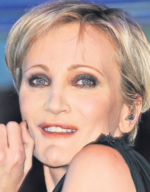 Patricia Kaas Poses After...