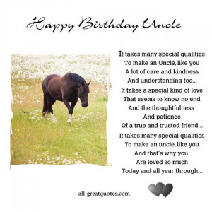 Birthday Uncle - It takes many special qualities to make an Uncle ...