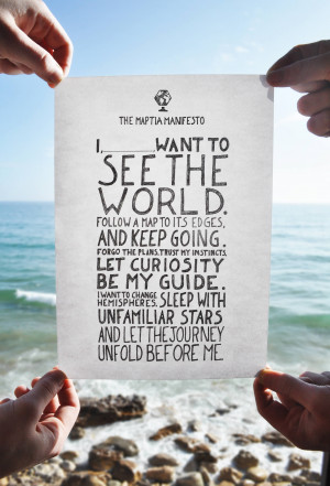 The Maptia Manifesto is travelling the world.