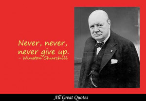 never never never give up winston churchill