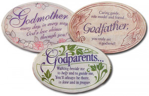 Baptism Godmother, Godfather, and Godparents Plaques