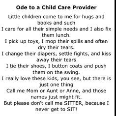 Must have for childcare providers. Nothing upsets me more than being ...