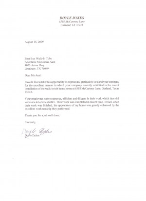sample letter of commendation for a job well done
