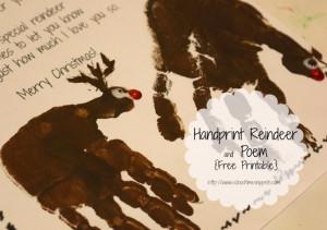 Reindeer Handprint Poem
