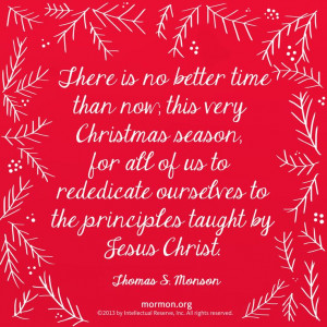 ... to the principles taught by Jesus Christ.