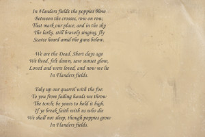 Famous Wedding Poems John mccrae's famous poem
