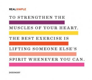 To strengthen the muscles of your heart, the best exercise is lifting ...