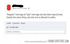 Funny photos funny gay marriage Facebook joke