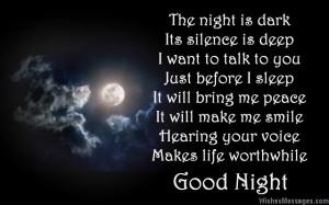 Good night love poem to boyfriend from girlfriend