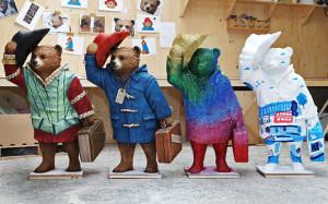 Bear as imagined by actor Michael Sheen, original creator Michael Bond ...