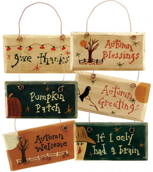 fall sayings ornaments 6 set these painted autumn blessings ornaments