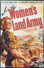 Poster for the Womens Land Army, 1943.