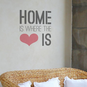 Home Is Where The Heart Is Quote Stencil