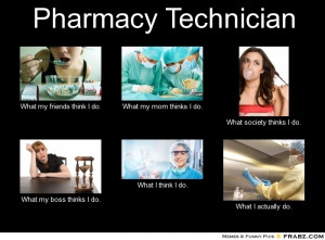 Pharmacy Technician...this is more along my lines...hospital pharmacy!