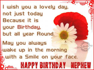 Birthday Wishes for Nephew - Happy Birthday Quotes Message Pictures ...