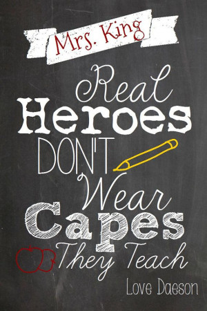 personalized Teacher appreciation quote chalkboard style by 3dkdesign,