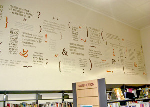 Unley Council Goodwood Library quotation wall decals