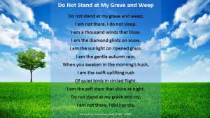 poems for funerals and memorial services