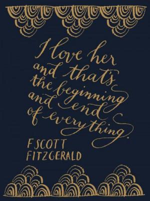 Gatsby quote - F Scott Fitzgerald