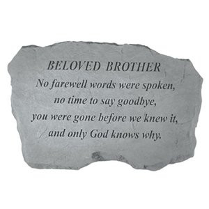 Beloved Brother - No Farewell Words - Memorial Stone (PM4116)