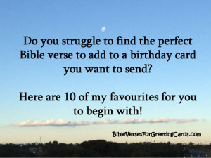 Bible Verses for Birthday Cards
