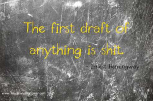 Ernest Hemingway quote about writing