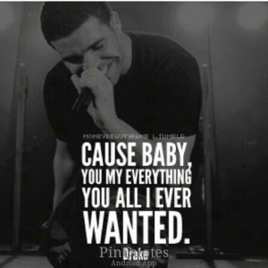 Your all I ever wanted