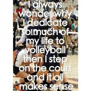 love volleyball   Sayings(: