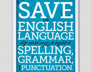 English Save The Language...