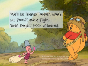 ... won t we pooh asked piglet even longer pooh answered winnie the pooh