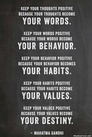Quote about destiny by Mahatma Gandhi