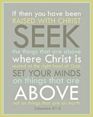 Seek truth, walk in faith